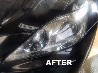 Headlight restoration after, it's nice and clear